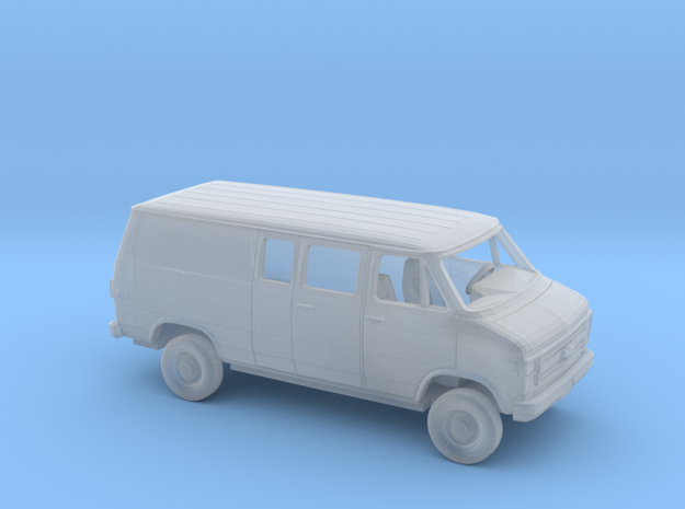 1/160 1984 Chevy G Van Ext Partial Windows in Smooth Fine Detail Plastic