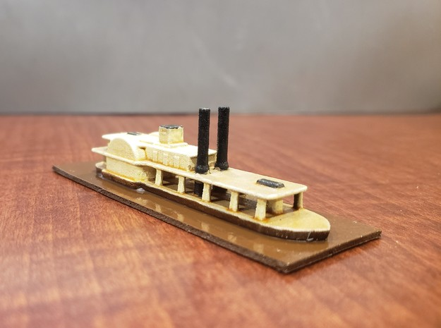 1/600 Transport Steamer Chickamauga in White Natural Versatile Plastic