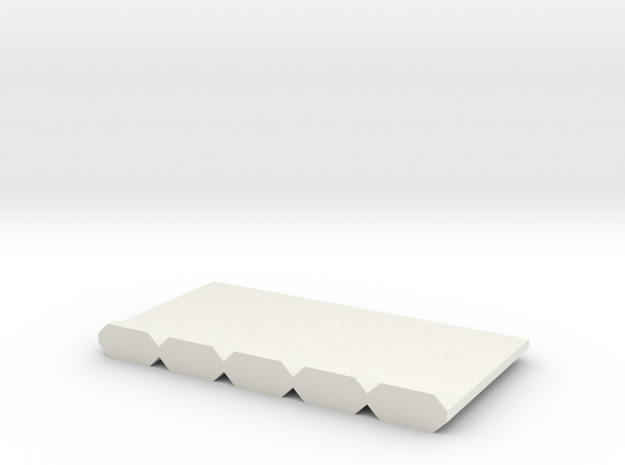 Barrera-5UD-72-proto-01 in White Natural Versatile Plastic