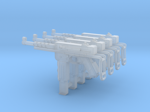 1:18 MAT-49 SMG French - Folded Stock x4 in Smooth Fine Detail Plastic