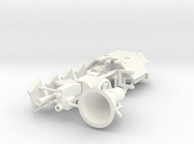 20MM TWIN GUN U-BOOT in White Processed Versatile Plastic
