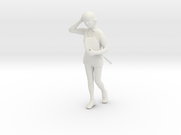 1/24 College Girl Walking to Gym in White Natural Versatile Plastic