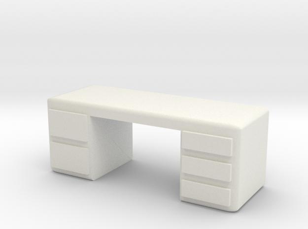 Office Desk 1/56 in White Natural Versatile Plastic