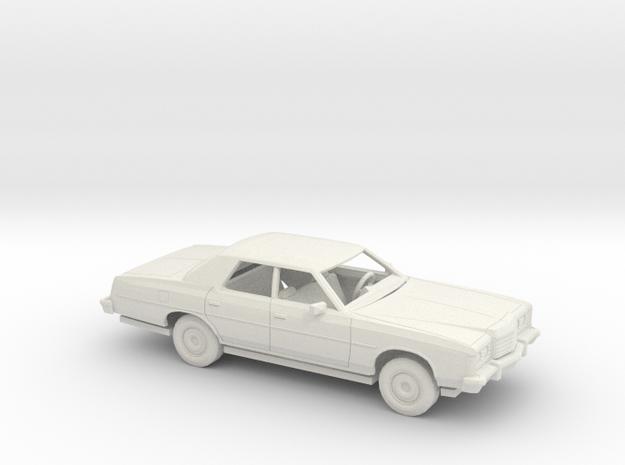 1/72 1974 Ford LTD Sedan Kit in White Natural Versatile Plastic