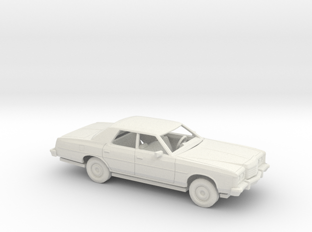 1/72 1974 Ford LTD Sedan Kit in White Natural Versatile Plastic
