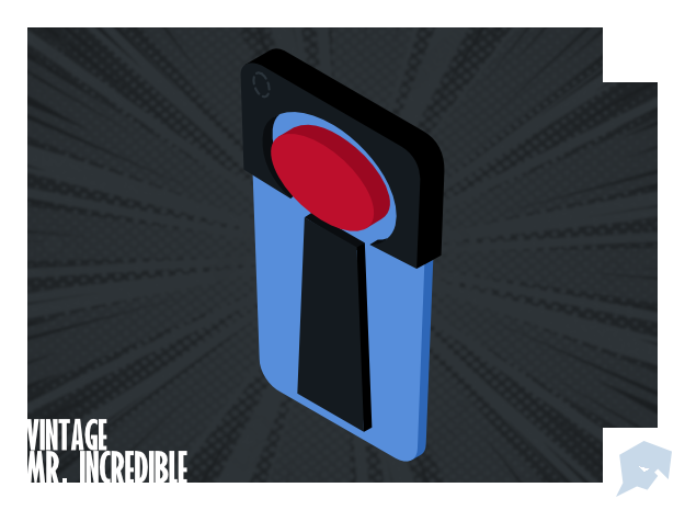 The Incredibles - Vintage Mr. Incredible Charm in Blue Processed Versatile Plastic