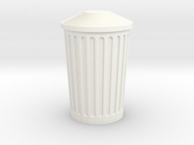 Dumper in White Processed Versatile Plastic