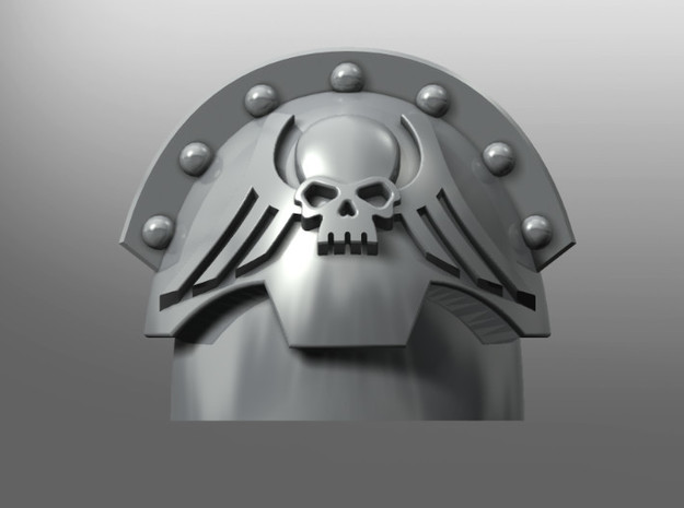 Honoris ptrn shoulder pads: Wings of Redemption in Smooth Fine Detail Plastic: Small