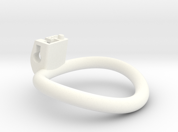 Cherry Keeper Ring - 54x49mm Wide Oval (~51.5mm) in White Processed Versatile Plastic