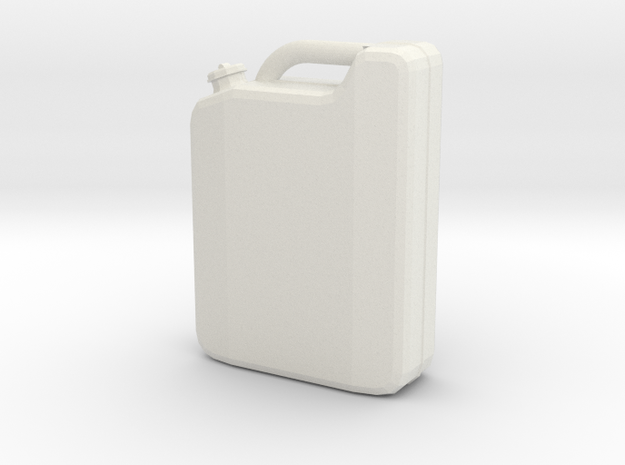 Canister in White Natural Versatile Plastic