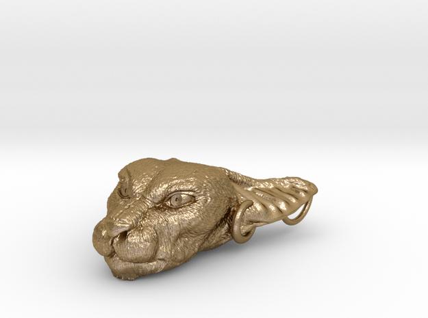 Bast Pendant in Polished Gold Steel