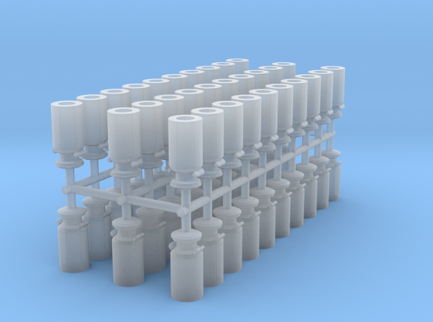 Milk Containers N scale in Smooth Fine Detail Plastic