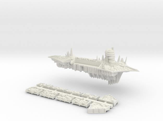 Nurgle_6_cruiser in White Natural Versatile Plastic