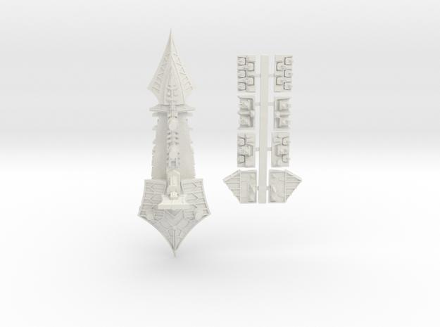 Tzeechen_10_cruiser in White Natural Versatile Plastic