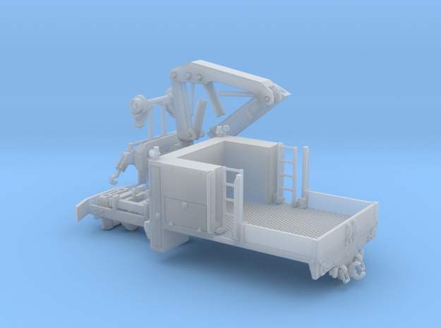 MOW Truck With Crane Parted 1-64 Scale in Smooth Fine Detail Plastic