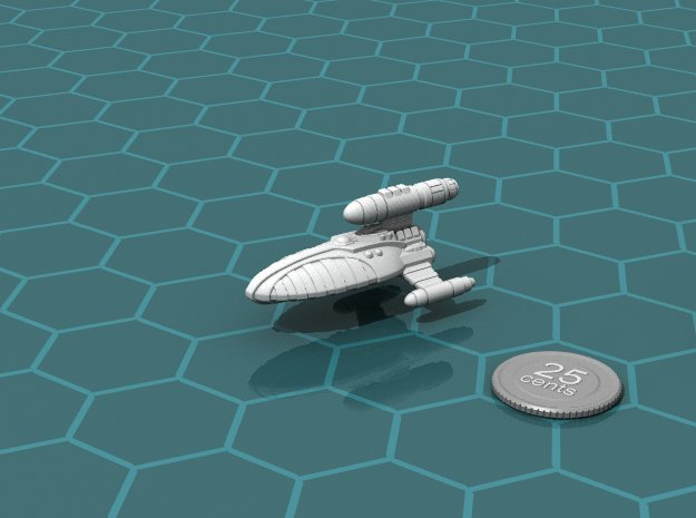 Reticulan Light Cruiser in White Natural Versatile Plastic
