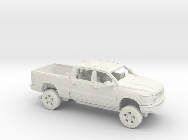 1/64 2019 Dodge Ram 1500 Reg Bed Kit in White Natural Versatile Plastic