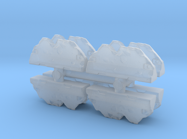 Wrecked Traffic Barrier (x8) 1/200 in Smooth Fine Detail Plastic