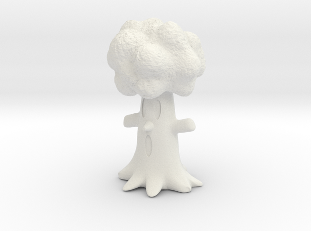 Kirby Whispy tree miniature for games and rpg in White Natural Versatile Plastic