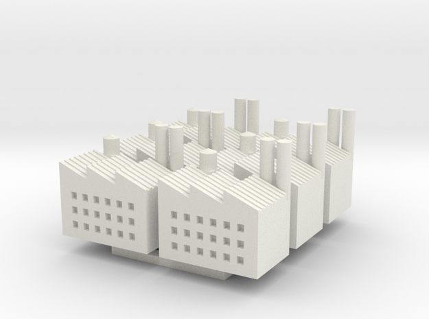 WW1 Factory x6 in White Natural Versatile Plastic
