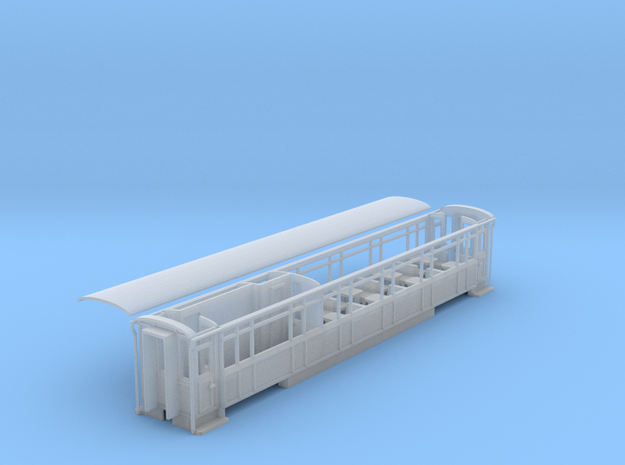 WHR Winson engineering 3rd/brake coach NO.2091 in Smooth Fine Detail Plastic