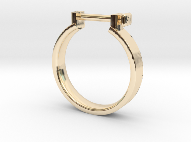 Cowboy Shackle Ring - Sz. 7 in 14K Yellow Gold