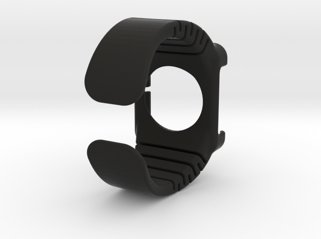 Apple Watch - 44mm small cuff  in Black Natural Versatile Plastic