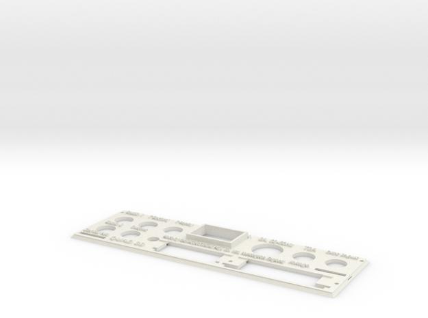 Quad 33 Rear Panel in White Natural Versatile Plastic