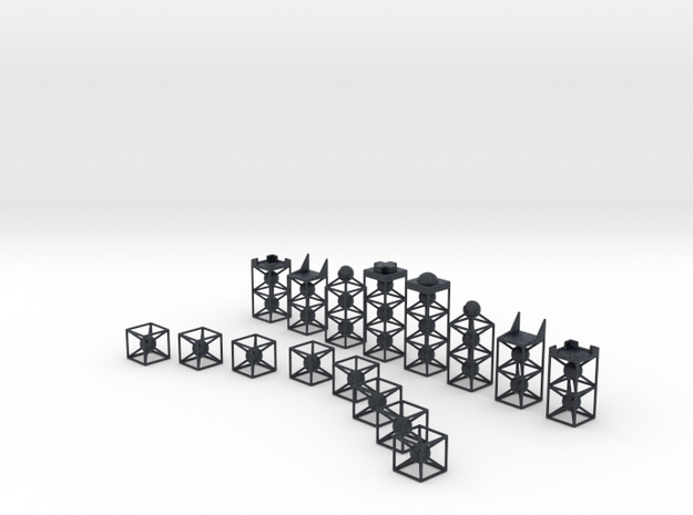 Minimal 751 Chess Set in Black PA12