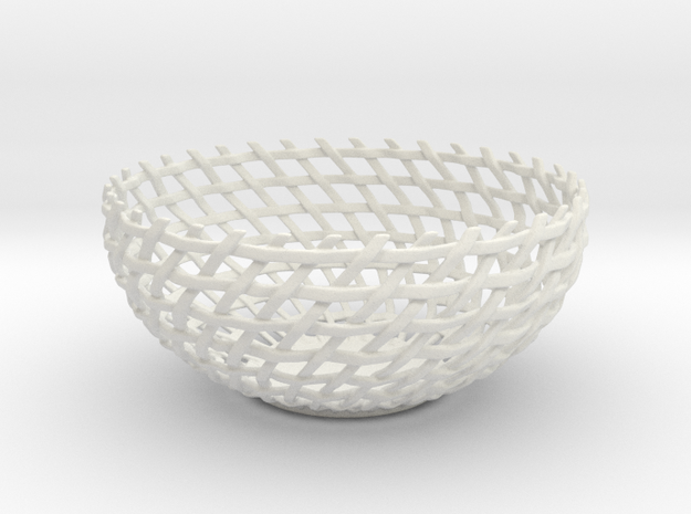 Basket Bowl in White Natural Versatile Plastic