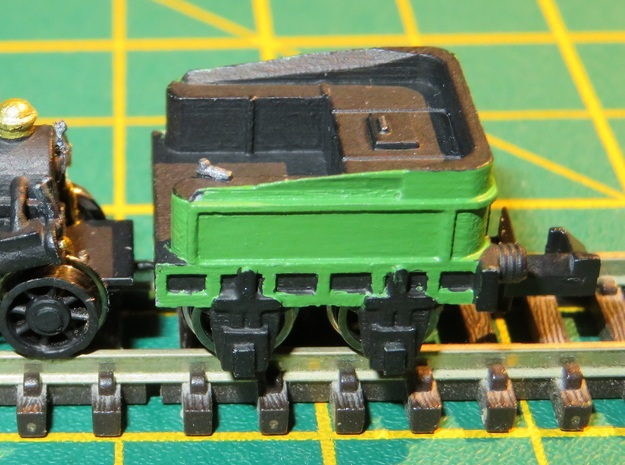 N gauge Northumbrian Tender Scratch Aid in Smooth Fine Detail Plastic