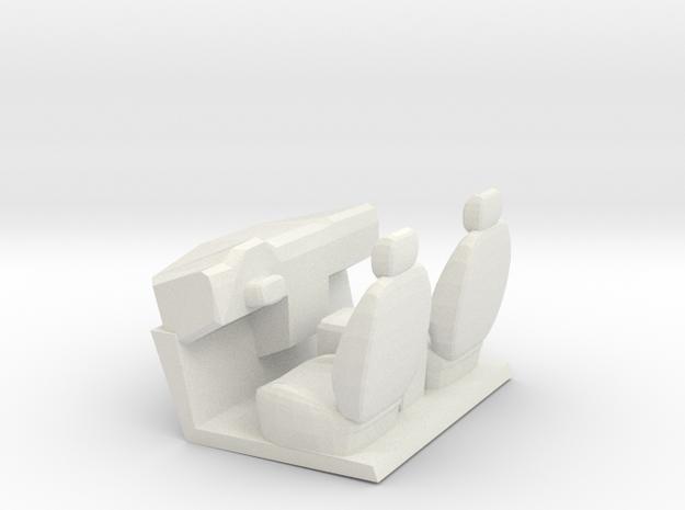 F650 Short Interior in White Natural Versatile Plastic