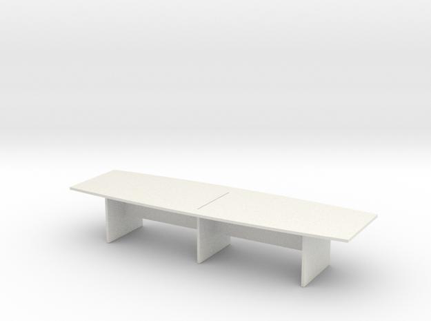 Modern Office Desk 1/35 in White Natural Versatile Plastic