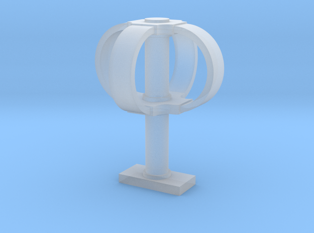 Eggbeater satellite antenna - 1/16 scale in Smooth Fine Detail Plastic