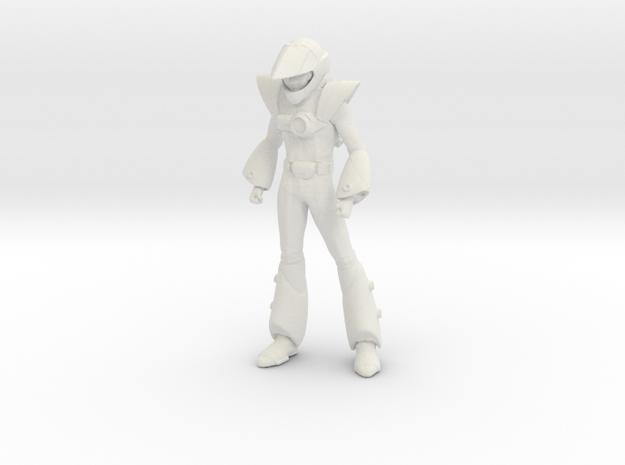 1/20 Macross Pilot Max Standing in White Natural Versatile Plastic