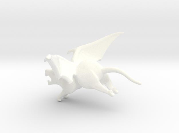 Winged Rat in White Processed Versatile Plastic