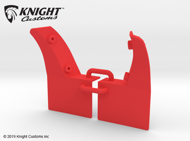 KCLD007 Delta Mudflaps REAR in Red Processed Versatile Plastic