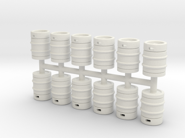 Beer Barrel 01. 1:50 Scale  in White Natural Versatile Plastic