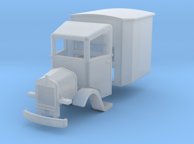 Rail truck H0e in Smooth Fine Detail Plastic