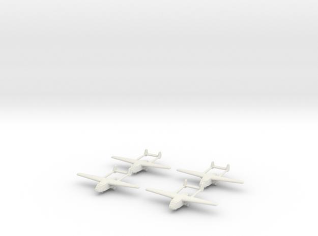 Go-242 German Glider 1/700X4 in White Natural Versatile Plastic