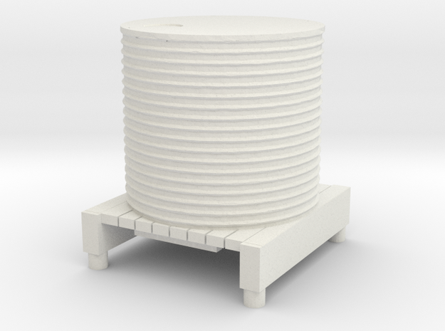 Water Tank 1/120 in White Natural Versatile Plastic