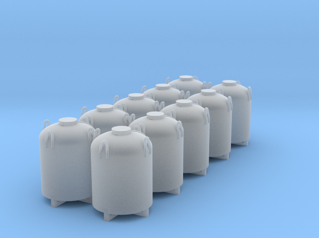 Cement Container - Set of 10 - HOscale in Smooth Fine Detail Plastic