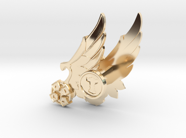 Winged D-pad Cufflinks  in 14K Yellow Gold