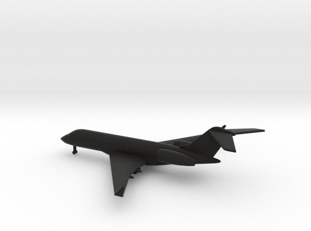 Bombardier Global Express XRS in Black Natural Versatile Plastic: 1:400