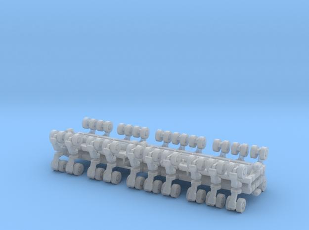 SPMT 8/12 Achslinien 4erSet - 1:120 TT in Smooth Fine Detail Plastic