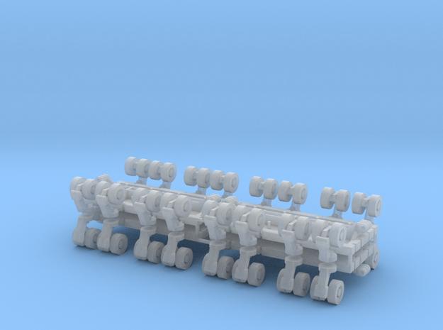 SPMT 8 Achslinien 4erSet - 1:120 TT in Smooth Fine Detail Plastic