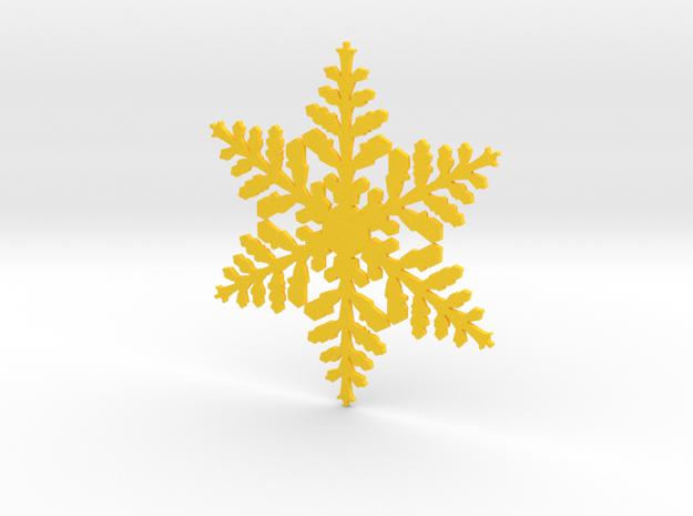 snowflake in Yellow Processed Versatile Plastic