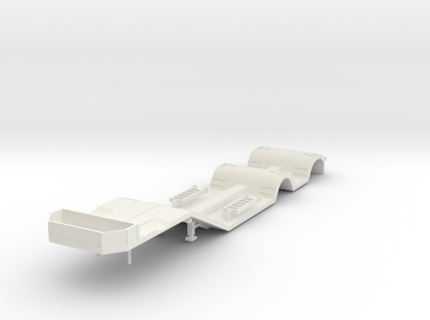 000688 Tieflader in White Natural Versatile Plastic: 1:87 - HO