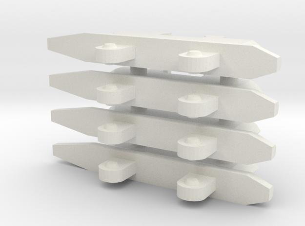 4x Single Pylons for SV-51, VF-0 in White Natural Versatile Plastic
