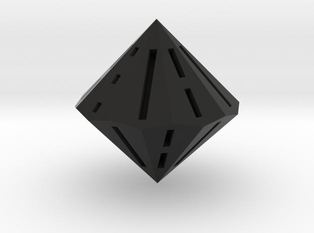 d18 Tai Xuan Jing die (solid) in Black Premium Versatile Plastic